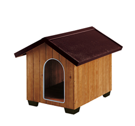 niche en bois pour chien ferplast le dogstore fr. Black Bedroom Furniture Sets. Home Design Ideas
