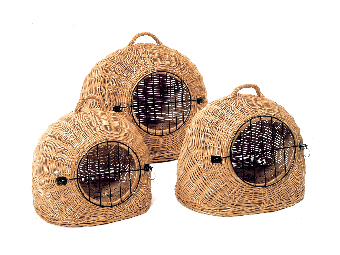 panier en osier pour le transport de chien ou chat le. Black Bedroom Furniture Sets. Home Design Ideas