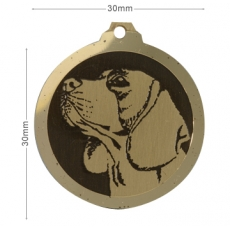 Medaille gravee Beagle
