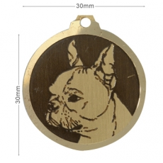 Medaille gravee Boston Terrier