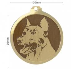 Medaille gravee Beauceron